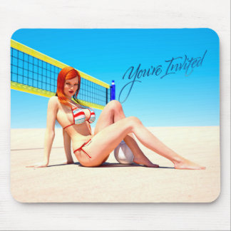 You re Invited Belle Mouse Pads