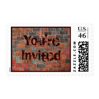 You re Invited brick wall Stamp