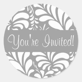 You re Invited Fern Flora Envelope Sticker Seal