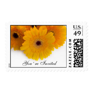 You`re Invited Gerbera Postage