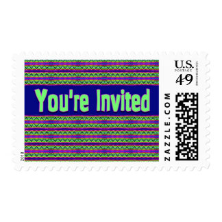 you' re invited stamp