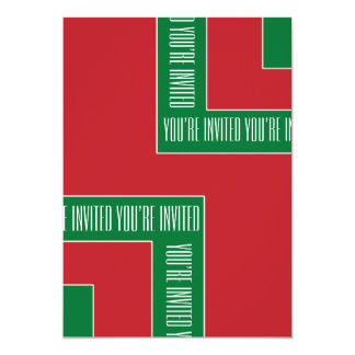"""You're Invited"" Red/Green Color Corner (MB) Card"