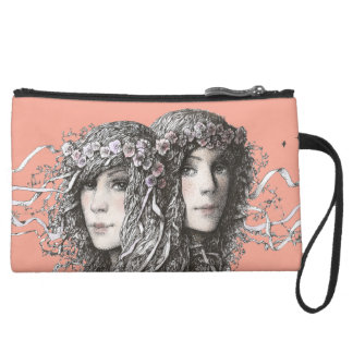 YOU`RE MY SOUL MATE! SUEDE WRISTLET WALLET