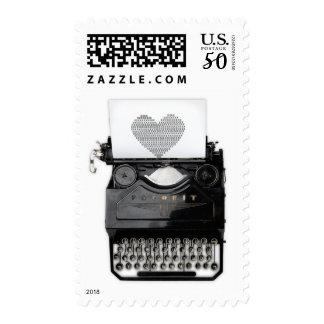 You're My Type Valentine's Day Typewriter Postage
