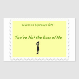 You re not the boss Alien sticker coupon