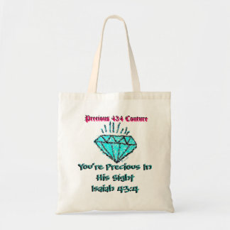 You re Precious Tote Bag - Turquoise Black Pink Bags