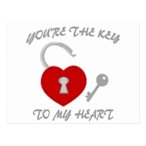 You're The Key To My Heart Postcards