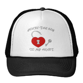 You're The Key To My Heart Trucker Hat