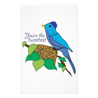 You re The Tweetest Personalized Stationery