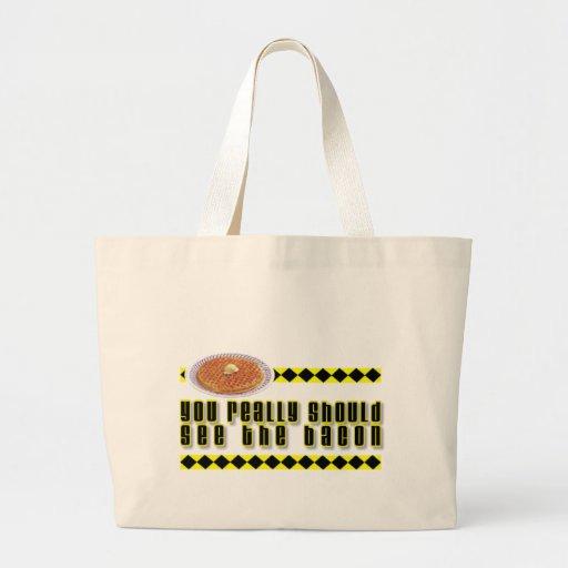 You Really Should See the Bacon Jumbo Tote Bag