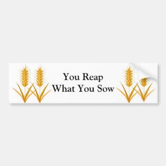 You Reap What You Sow Bumper Sticker