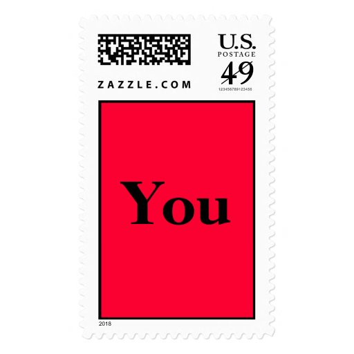 You - red background stamp