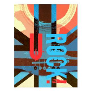 You Rock - british classic rock postcard