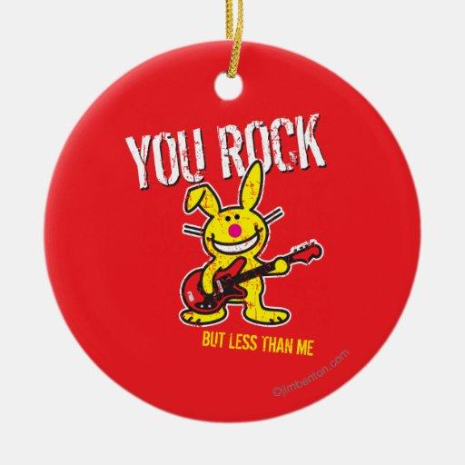 You Rock Christmas Tree Ornaments