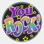 You Rock! Classic Round Sticker