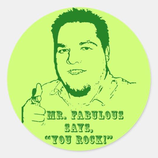 You Rock Classic Round Sticker Zazzle Com