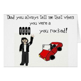 YOU ROCK DAD CARD
