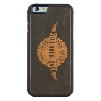 You Rock Dad Orange Black Emblem Carved® Maple iPhone 6 Bumper