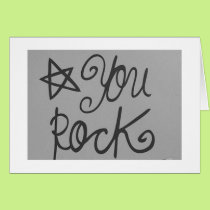 """""""YOU ROCK"""" / FOR """"50"""" THAT IS PRETTY COOL! CARD"""