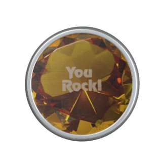 You Rock! Gold Gem Bluetooth Bumpster Speaker