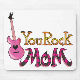 You Rock, Mom T Shirts Mouse Mats