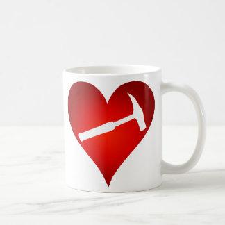 You Rock My World: Rock Hammer Heart (Left-Handed) Coffee Mug