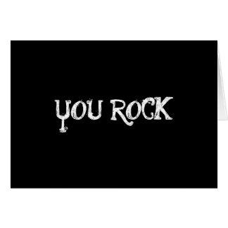 you rock notecard greeting cards