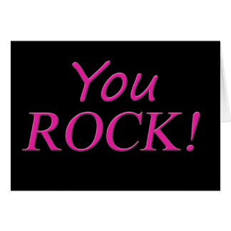 You Rock! Pink and Black Card