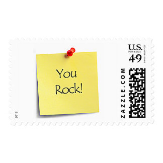 """""""YOU ROCK"""" POST-IT POSTAGE STAMP"""