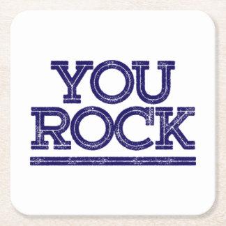 You Rock. Square Paper Coaster