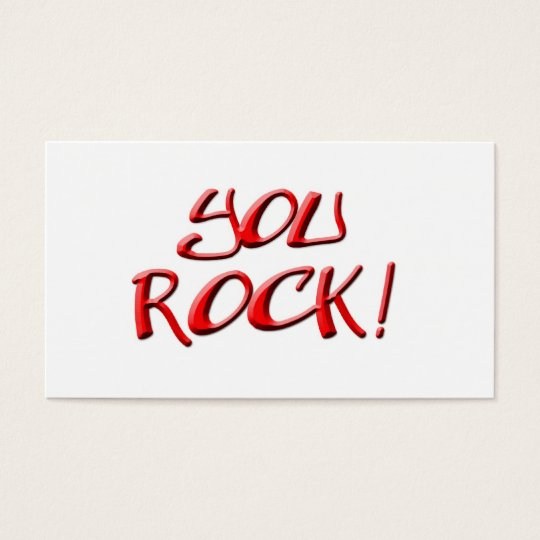 You Rock! Thank you gift Business Card