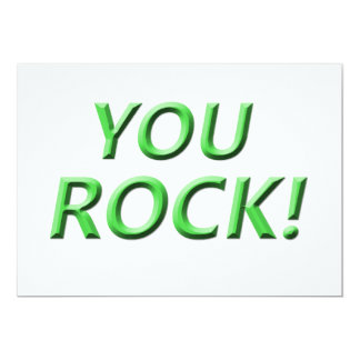 You Rock! Thank you gift Card