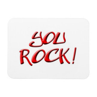 You Rock! Thank you gift Magnet