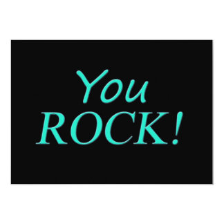 You Rock! Thank You Gifts Card