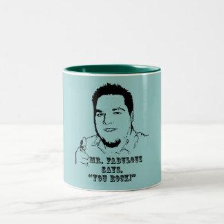 You Rock! Two-Tone Coffee Mug