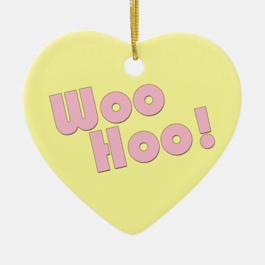 You Rock! WooHoo! Ceramic Ornament