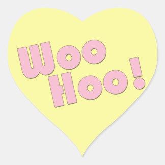 You Rock! WooHoo! Heart Sticker