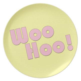 You rock! WooHoo! Melamine Plate