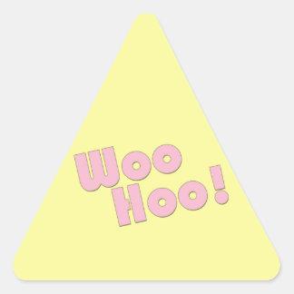 You Rock! WooHoo! Triangle Sticker