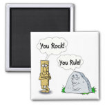You Rock, You Rule 2 Inch Square Magnet