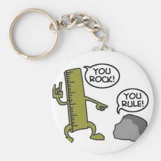 You Rock You Rule Keychain
