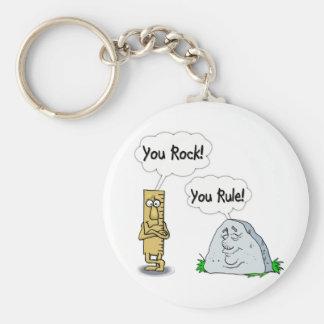 You Rock, You Rule Keychain