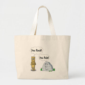 You Rock, You Rule Large Tote Bag