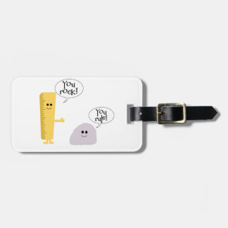 You rock You rule Luggage Tag