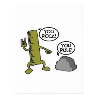 You Rock You Rule Postcard