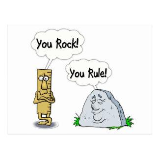You Rock, You Rule Postcard
