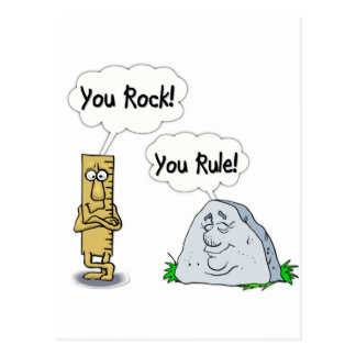 You Rock You Rule Post Cards