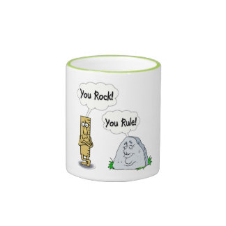 You Rock You Rule Ringer Coffee Mug