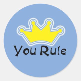 You Rule Classic Round Sticker