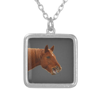 You Said What? Square Pendant Necklace